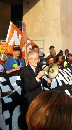 I spoke at the rally after the Real Affordability for All March for good jobs and affordable housing now.