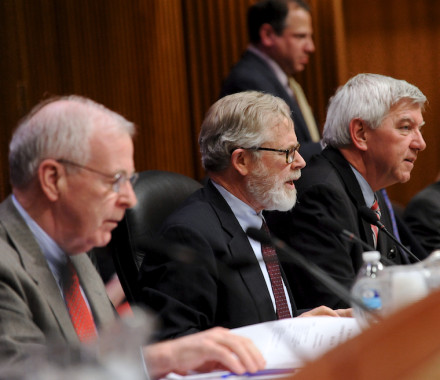 More from the Joint Conference Committee, with Sen. Hannon (L), A/M Cahill (R), and A/M Raia (standing)