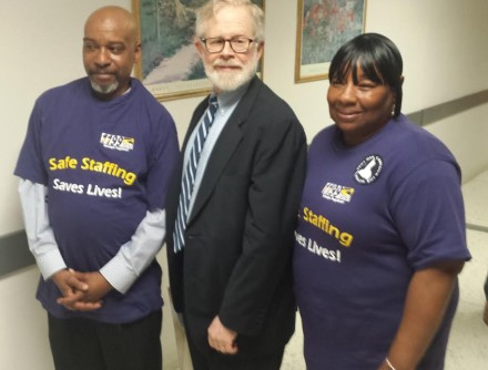 Friends and allies from SEIU!  Credit: A/M Gottfried's office