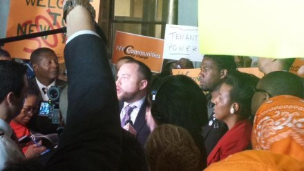 "Council Member Johnson: ""They may have the money, but we have the people!""  (Credit: A/M Gottfried's office)"