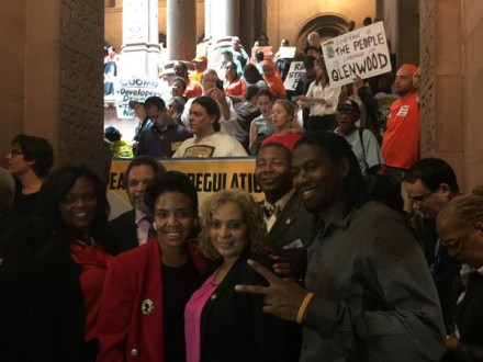 Assembly Members Bichotte, Ortiz, and Davila, with Council Members Cumbo and Williams.  (Credit: Office of Jumaane Williams)